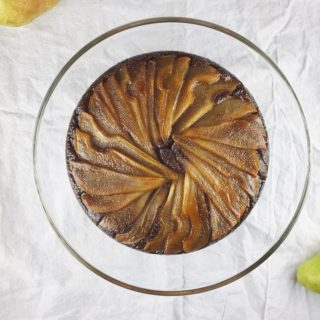 Molasses Ginger Pear Upside-Down Cake