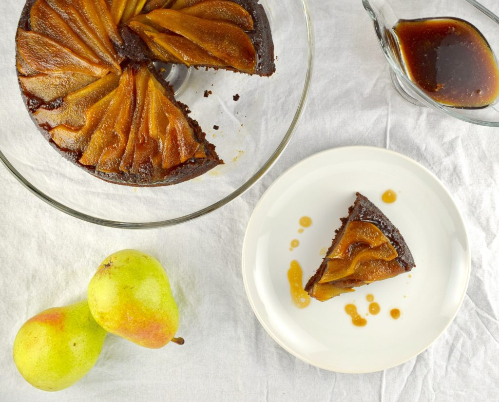 Gluten Free Pear Upside Down Cake