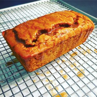 Maple Pumpkin Spice Bread with Vanilla Bean Sauce