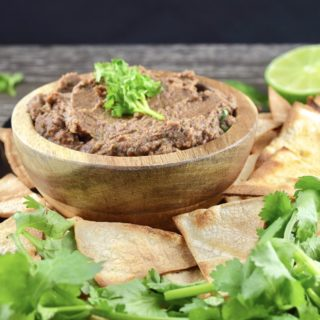 Smoky Black Bean Dip with Chipotle and Cilantro