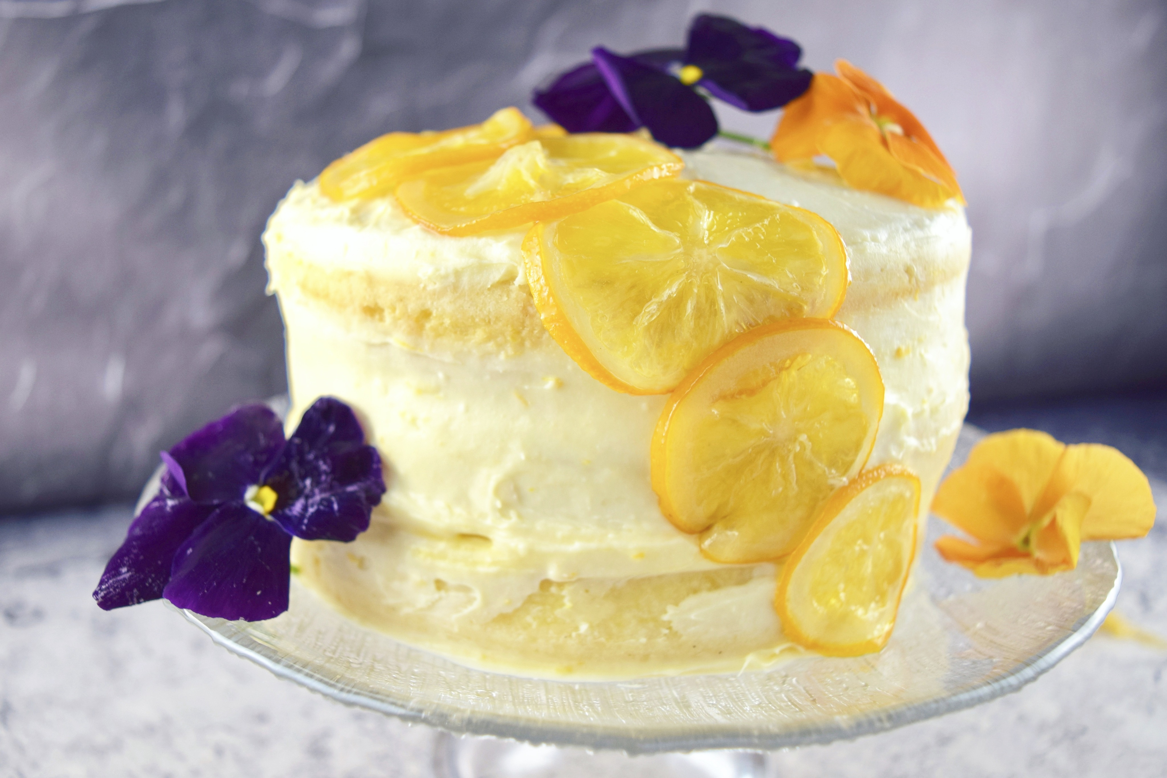 Meyer Lemon Cake With Cream Cheese Frosting