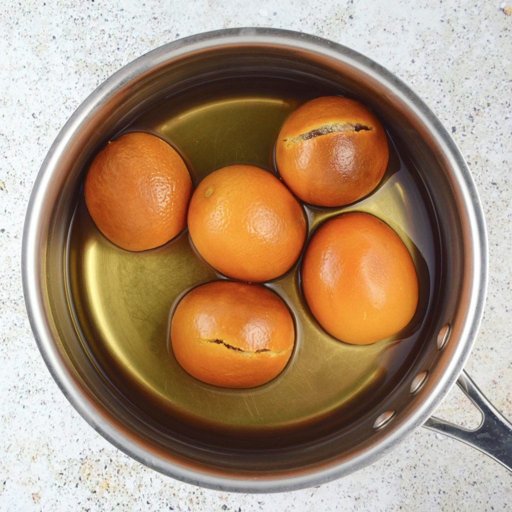 Boiled Whole Blood Oranges