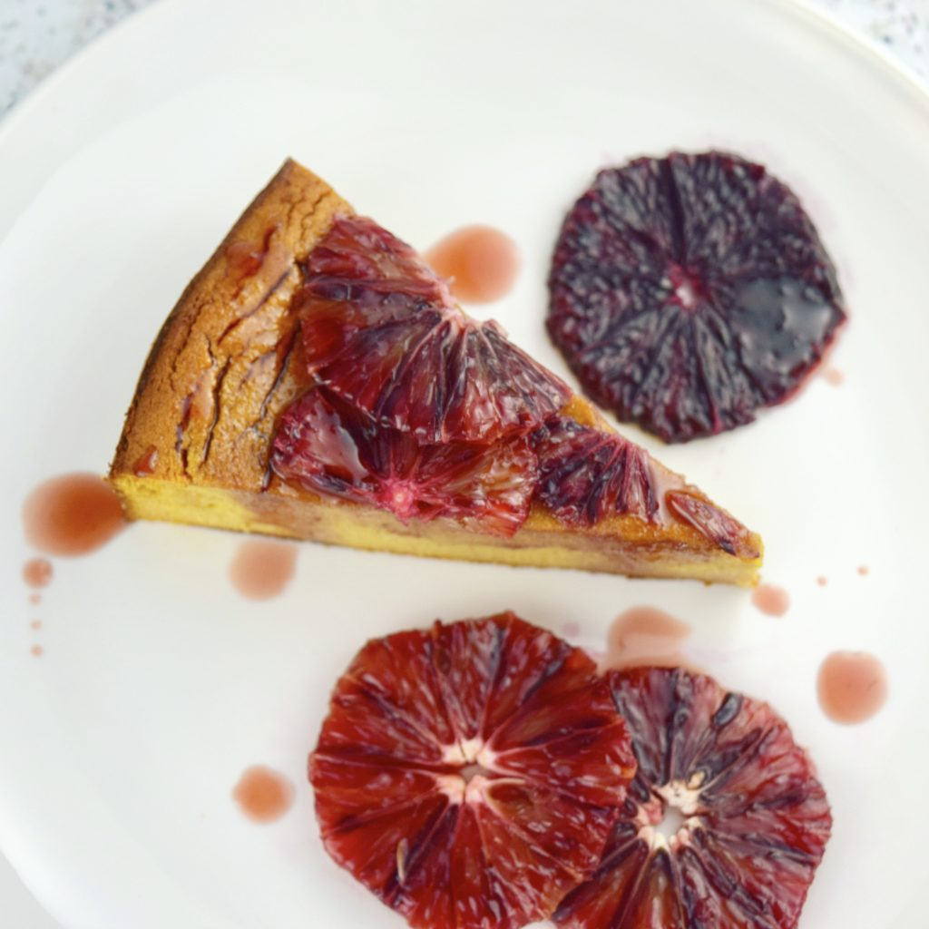 Flourless Blood Orange Cake Intact Slice