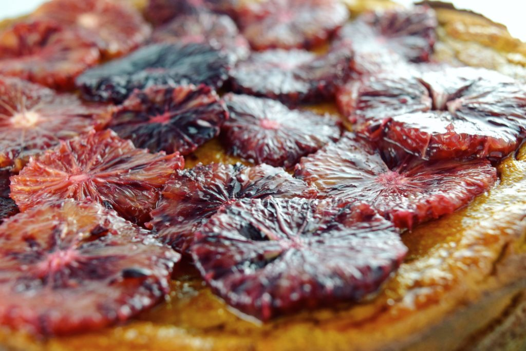 Flourless Blood Orange Cake Top