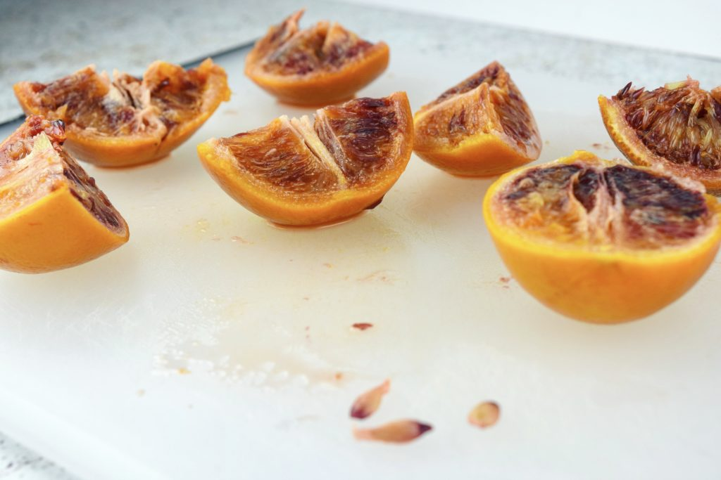Seeding Boiled Whole Blood Oranges
