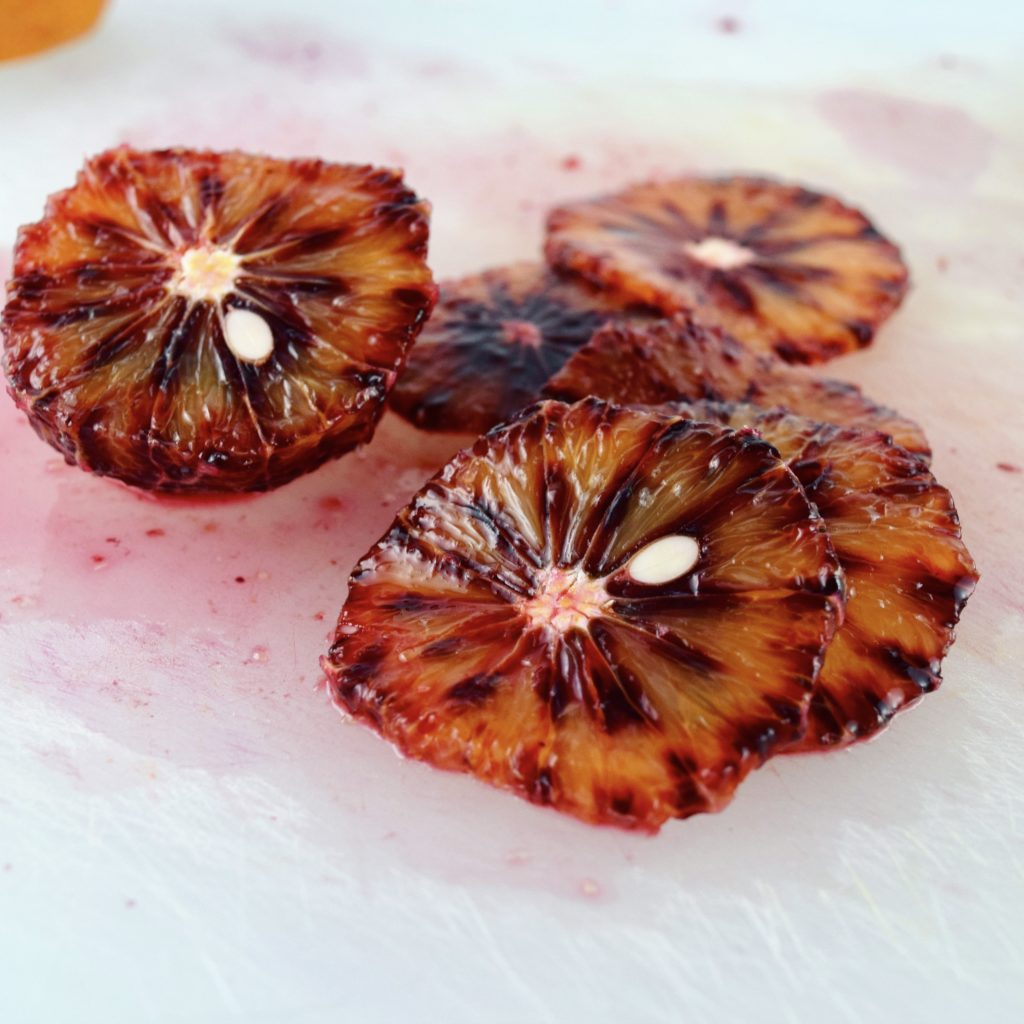Sliced Blood Orange with Seed