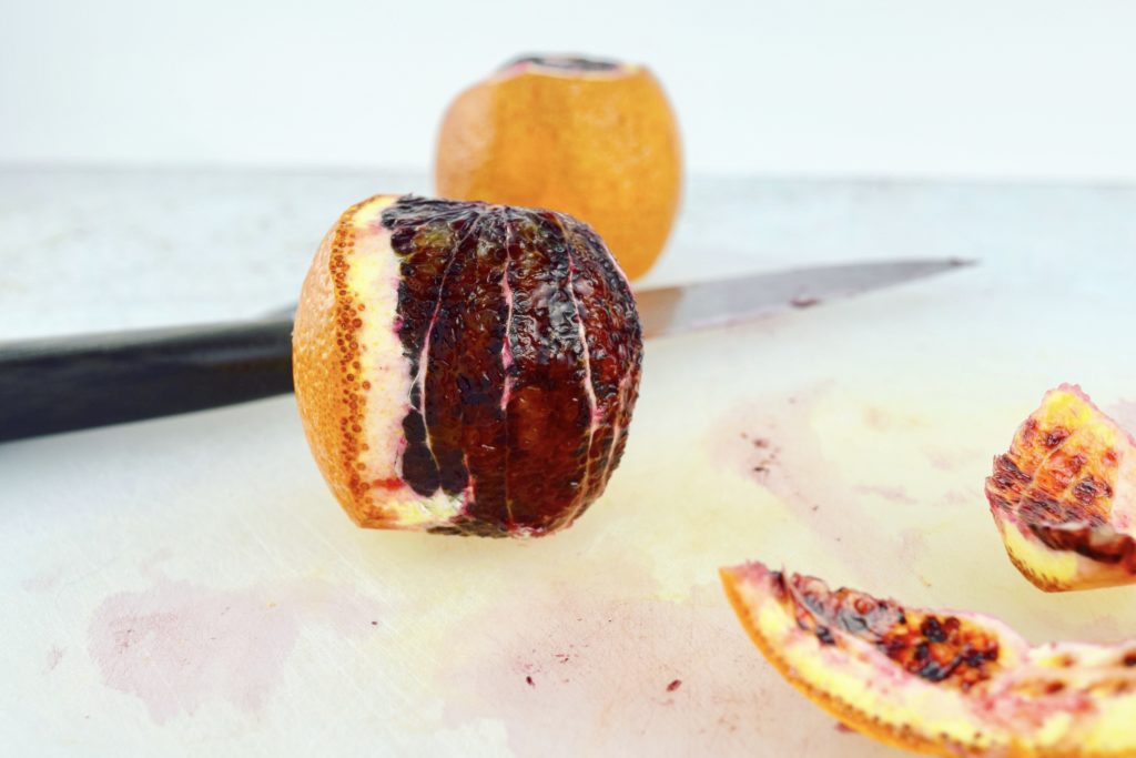 Trimming Blood Orange in Progress