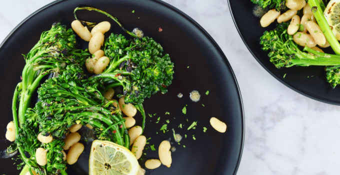 White Beans & Charred Broccolini with Anchovy Vinaigrette