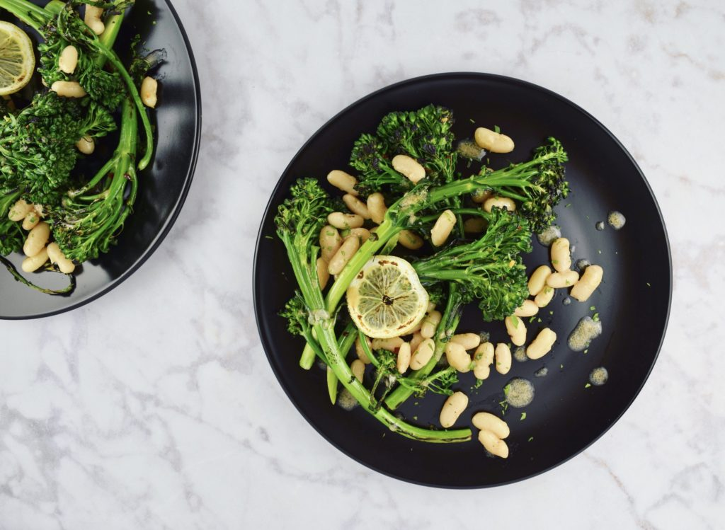 White Beans with Broccolini + Anchovy Vinaigrette