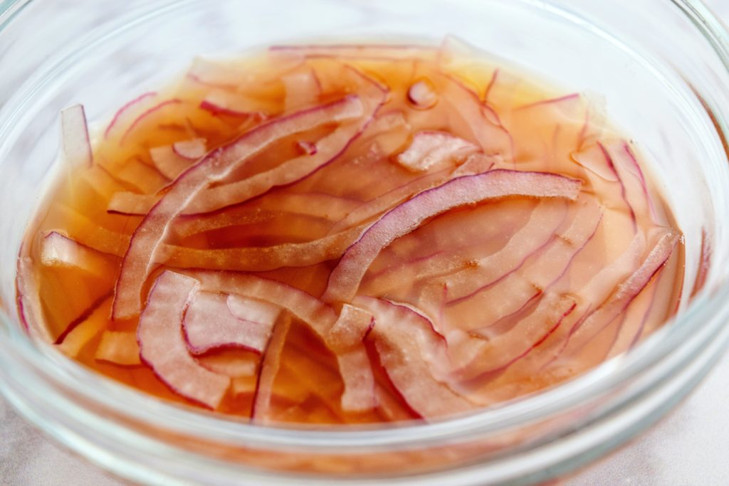 Pickling Red Onions