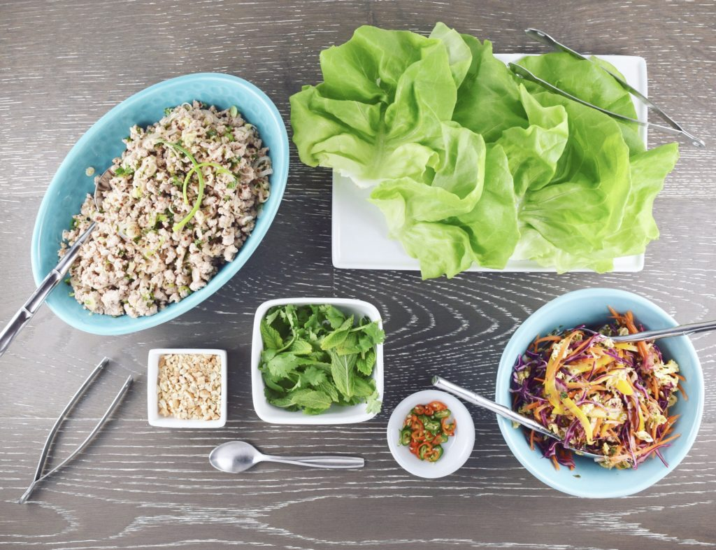 Turkey Larb with Fixings