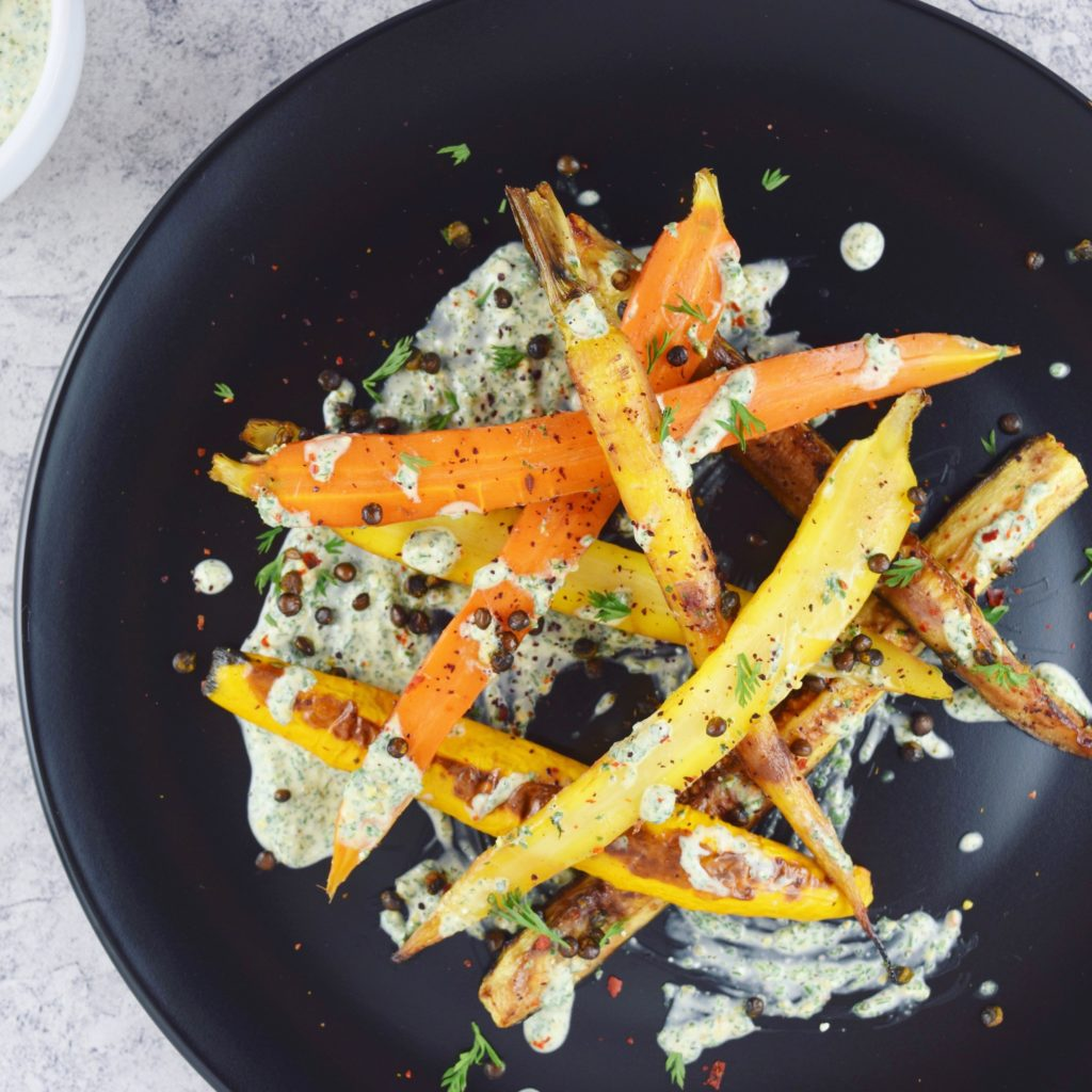 Sweet Spicy Carrots Zucchini Lentils Plate