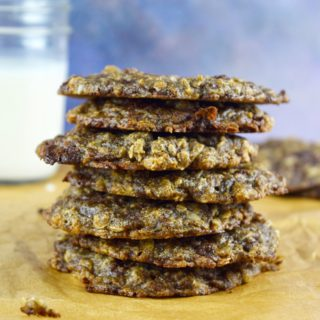 Vegan Oatmeal Chocolate Chunk Cookies