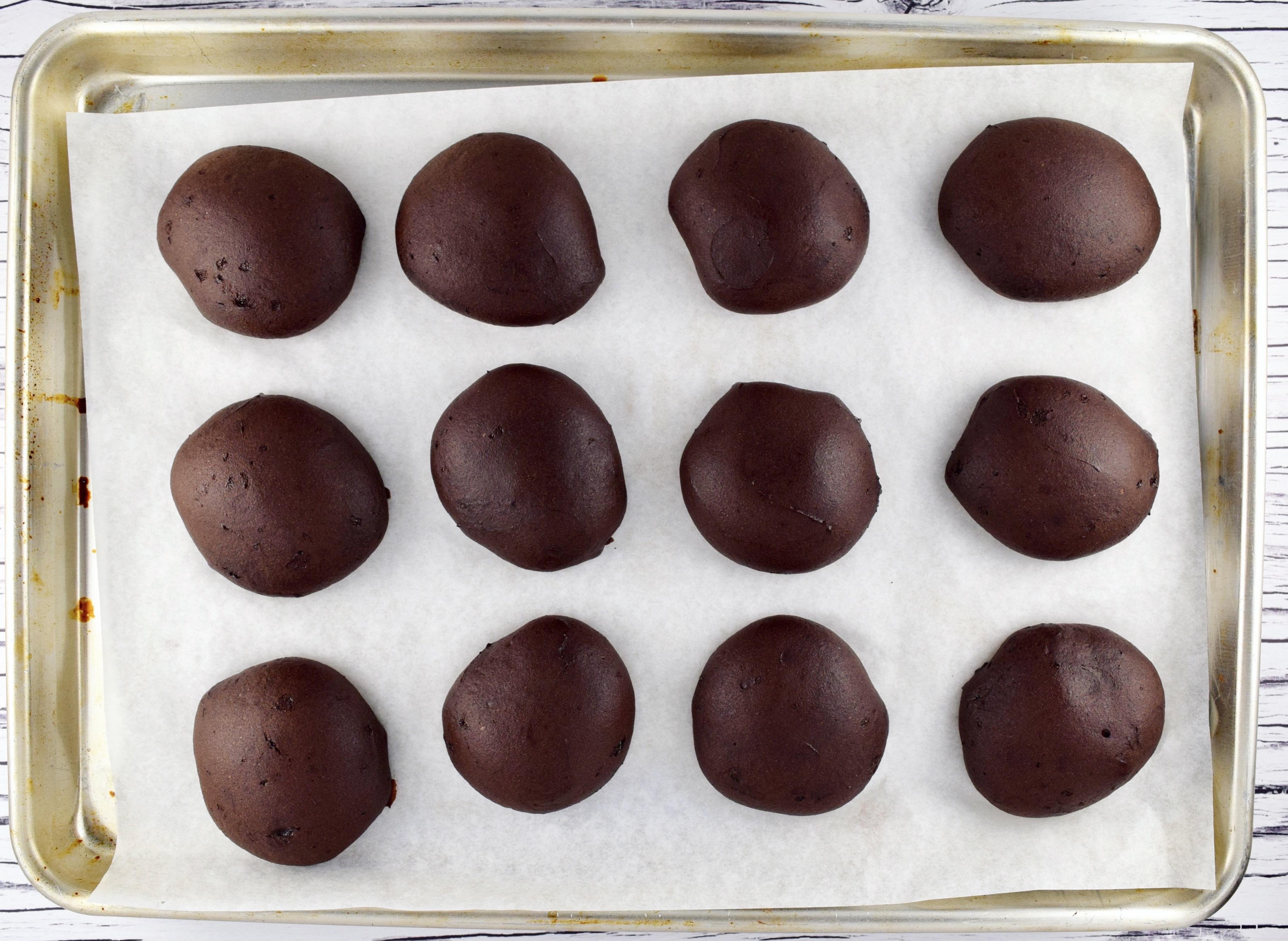 Dark Chocolate Hibiscus Whoopie Pies