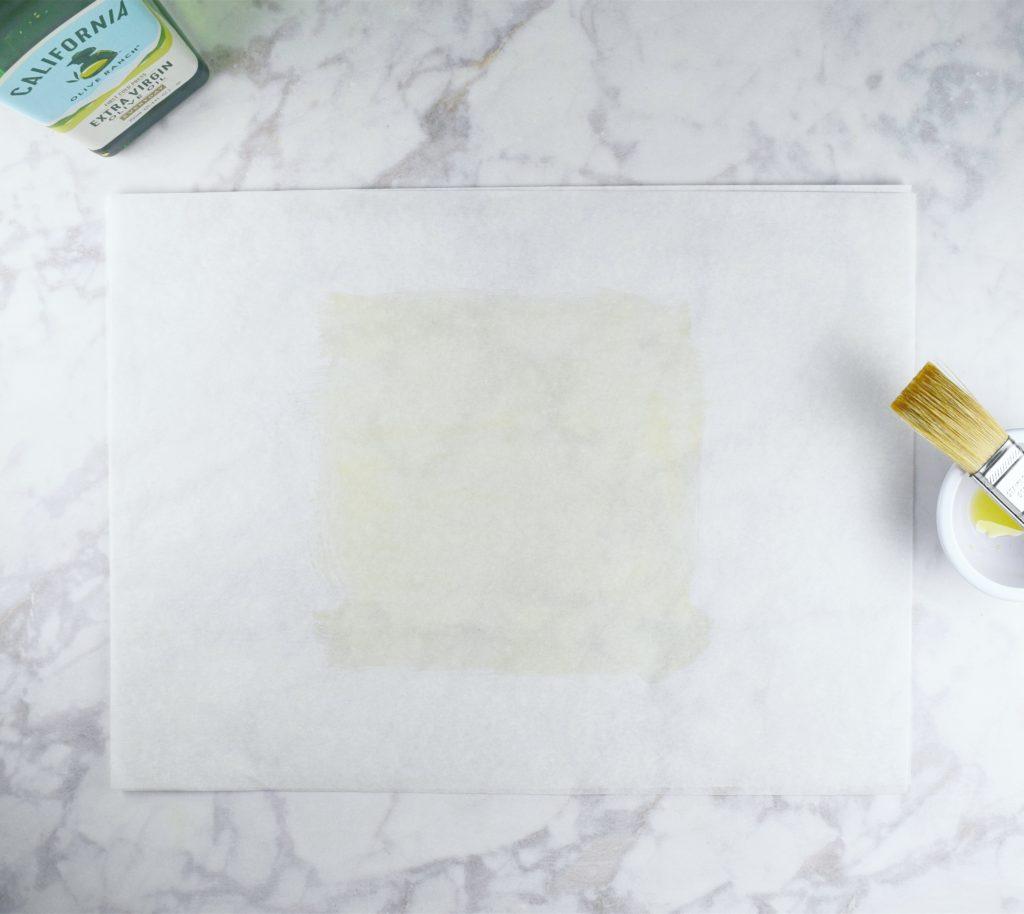 Oiling parchment