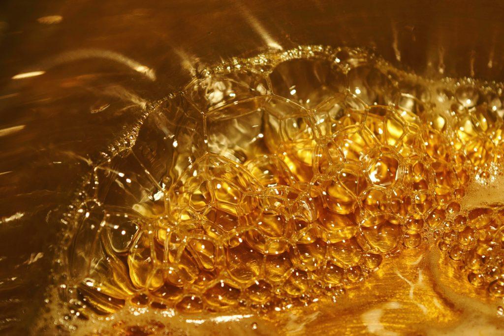 Bubbling honey