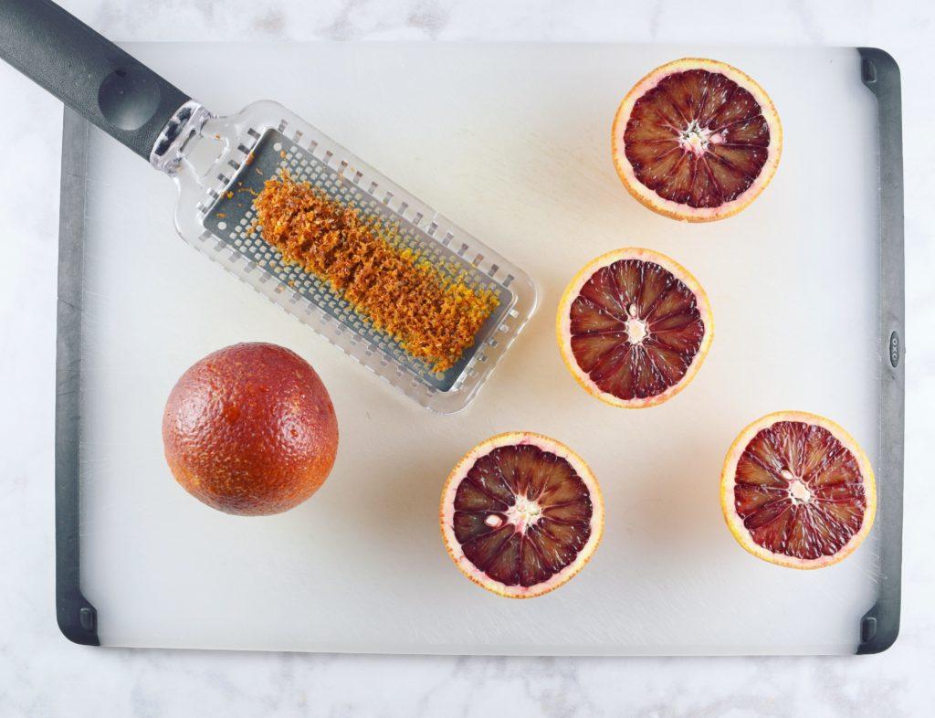 Zested Blood Oranges